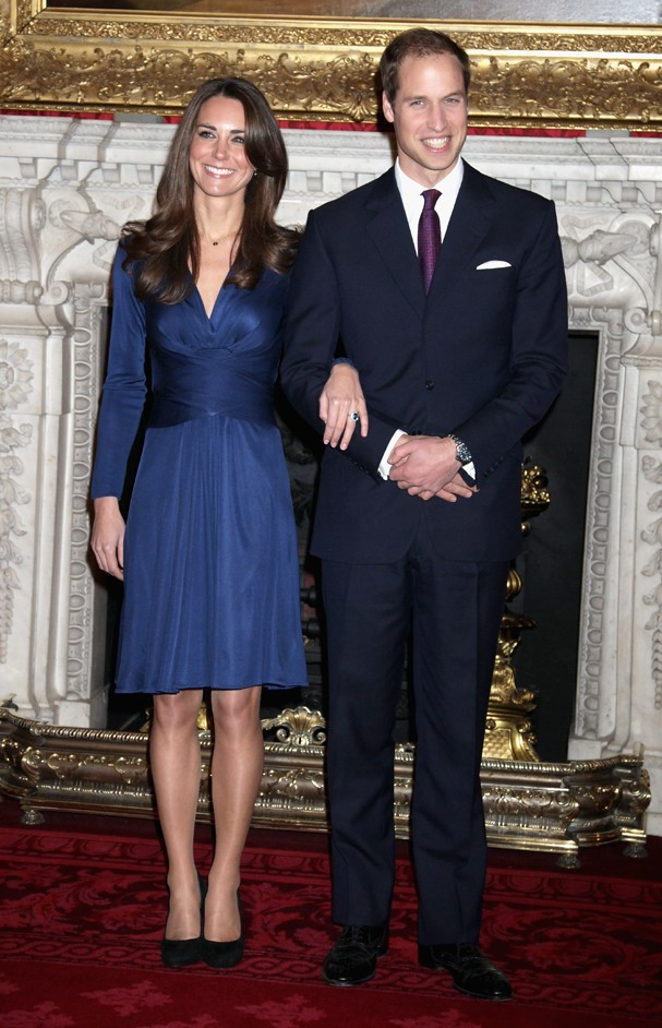 Kate Middleton usa vestido cache couer (Foto: Getty Images)