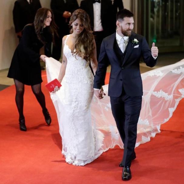 Antonella Roccuzzo e Leo Messi (Foto: Reprodução)