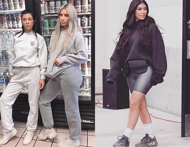 Kim Kardashian e as irmãs são dãs do moletom (e conjuntinhos iguais) (Foto: Instagram)