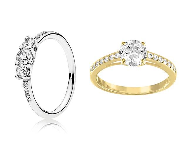 Os anéis de noivado moissanite são avaliados apenas pelo tamanho (Foto: DIvulgação)